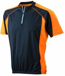 James & Nicholson Herren Kurzarm Bike T-shirt schwarz (black/orange) XX-Large -