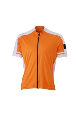 James & Nicholson Herren Sport Top Trikot Men's Bike-T Full Zip orange (Orange) XX-Large -
