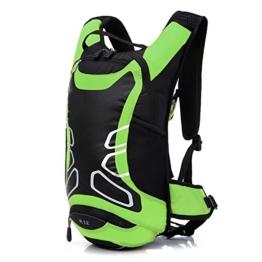 JZK® 12L Wasserdicht Fahrrad Schulter Rucksack Wasser Reisetasche Ultralight für Radsport Outdoor Reiten Bergsteigen Hydration neu (gruen) -