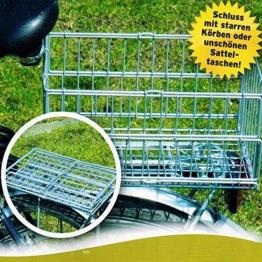Klappbarer Fahrradkorb Gepäckträger Korb Fahrradzubehör Hinterradkorb 122 -