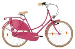 KS Cycling Damen Fahrrad Hollandrad Tussaud 3 Gänge RH 54 cm, pink, 28 Zoll, 329H -
