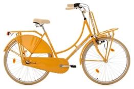 KS Cycling Damen Fahrrad Hollandrad Tussaud 3-Gang mit Frontgepäckträger RH 54 cm, gelb, 28 Zoll, 328H -