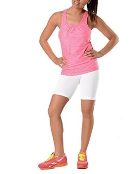 Leggings in 19 Farben Baumwolle, Lycra 1/2 Radlerhose Kurz, p930 Weiß XL/42 -