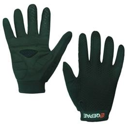 Lerway Anti-Rutsch Outdoor Hände Handschuhe Breath Weich Vollfinger MTB Handschuh Fahrradhandschuhe für Radfahren,Fahrrad Sports (Schwarz, M) -