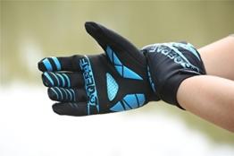 Lerway Winter MTB Handschuhe Gepolstert Race Fahrrad Handschuhe Sporthandschuhe für Radsport ,Outdoor Sport Mountainbike Damen und Herren Gloves (M, Blau) -