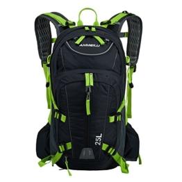 Lixada 18L+7L Fahrradrucksack für Reisen Bergsteigen Wasserdicht mit Regen Abdeckung -