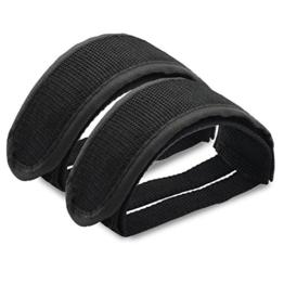 PsmGoodsuk 1 Paar Fixed Gear Fixie BMX-Fahrrad-Doppelklett Pedal Toe Clip Straps (Black) -
