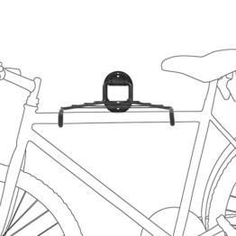 Relaxdays Fahrrad Wandhalterung Platzsparend, Schwarz, 10017700 -