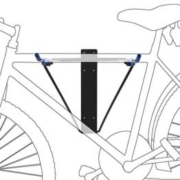 Relaxdays Fahrrad Wandhalterung, Schwarz/Blau, 10017698 -