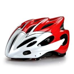 Rennrad Fahrradhelm für Erwachsene/ Männer/ Frauen Fahrradschutzhelm in rot Größe 52-63cm -