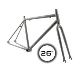 "'Ridewill Bike Kit Rahmen Fixed starr-26""Stahl roh ((starr)/Frame (HTML) City Fixed Gear 26Raw Steel (Fixed Frames) -"