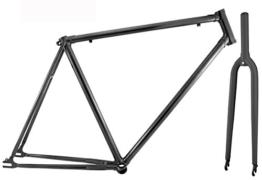 RMS Rahmensatz für Fahrrad mit fester Gabel 700cx58 Schwarz -