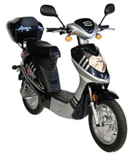 Scoody 45 500-Watt CityCruiser Dunkelblau silber Scooter Motorroller Moped Mofa Cruiser Scooterroller Zweirad Elektroroller blau -
