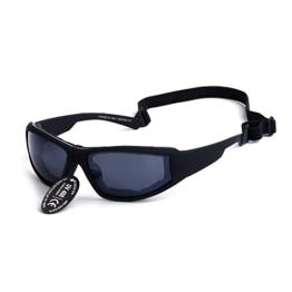 Supertrip Polarisierte Fahrradbrille Skibrille Sportsonnenbrille Radsportbrille Motorradbrille Radbrille für Sport und Freizeit Color Schwarz -