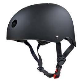 SymbolLife BMX / Skate / Motorroller Helm fahrradhelm motorroller helm Zyklus / Bike / Scooter / Skatehelm CE EN1078 TÜV Zulassungen 58 - 60cm Größe M Schwarz -
