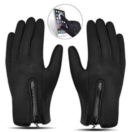 Touchscreen Handschuhe, Aodoor (Grösse L) Herbst Winter Unisex Warme Fahrradhandschuhe Winddicht und Touchscreen für Smartphone Sport Handschuhe Motorrad Jagd Kletter Handschuhe, Schwarz -