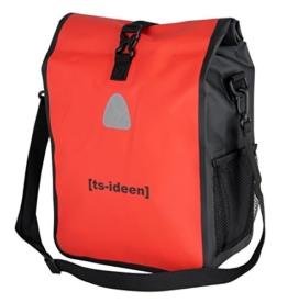 ts-ideen Radtasche Fahrradtasche Gepäckträger große Tasche Aqua Back Case Einzeltasche wasserdichte Rad Packtasche in rot -