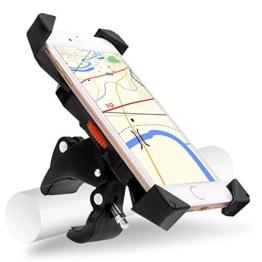 Universal Fahrrad Handyhalterung, Migimi 360 Grad drehbaren Smartphone Handyhalter Fahrrad Verstellbar für iPhone 7/7plus, Samsung Galaxy S7/S7 Edge, Blackberry/HTC/GPS, Kompatibel mit Allen 3,5-Zoll, 7-Zoll-Handy, GPS oder andere Geräte. -
