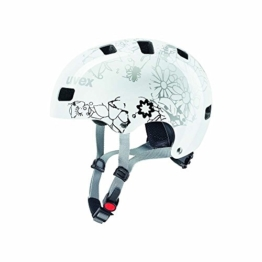 UVEX Kinder Kid 3 Fahrradhelm, White Flower, 55-58 -