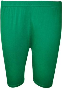 WearAll - Damen Übergröße Einfarbig Elastisch Radlerhose - Jade - 44 bis 46 -