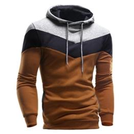 Zolimx Herren Männer Lange Hülse Hoodie mit Kapuze Jacken Mantel Sweatshirt (M, Kaffee) -