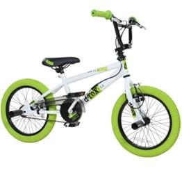 16' BMX deTOX Freestyle Kinder BMX Anfänger, Farbe:weiss/grün -