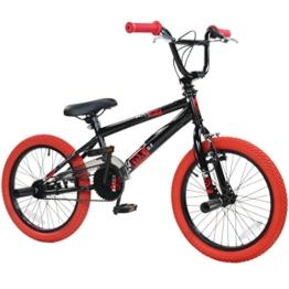 18' BMX deTOX Freestyle Kinder BMX Anfänger ab 120 cm, ab 6 Jahren, Farbe:schwarz / rot -