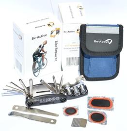 Be-Active Fahrrad Reparaturset - metallische Fahrradwerkzeuge / Reifen-Reparatur-Werkzeug-Set mit leicht zu tragender Tasche -
