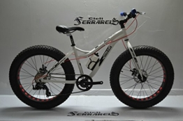 Fahrrad Fat Bike Evo MTB grob 24in Aluminium Werkstatt ferrareis weiß -