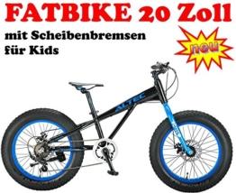 Fatbike 20 Zoll 21 Gang schwarz-blau -