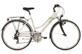 KS Cycling Damen Fahrrad Trekkingrad Alu-Rahmen Metropolis Flachlenker, Weiß, 28 Zoll, 133T -