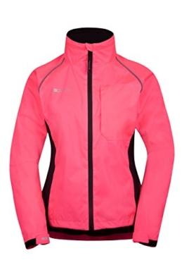 Mountain Warehouse Iso-Viz-Jacke Radtrikot Adrenalin für Damen hoch reflecktierend Laufjacke Fahrradjacke Sport Helles rosa DE 42 (EU 44) -