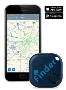 musegear® Schlüsselfinder + App (Dunkelblau) | Schlüssel, Handy, Portmonee Wieder-finden, Nerven Schonen, Zeit Sparen -