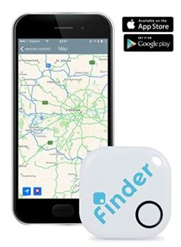 musegear® Schlüsselfinder + App (Weiß) | Schlüssel, Handy, Portmonee Wieder-finden, Nerven Schonen, Zeit Sparen -