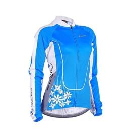 Nuckily Frauen Radtrikot Langärmelige Fahrrad Jersey Voll Reißverschluss Sportbekleidung -