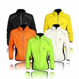 Radfahr-/Lauf-Jacke; Sportbekleidung; zum Laufen geeignet; langärmelig; schützt vor Wind und Regen; schnelltrocknend; winddicht; für Frühling / Herbst geeignet; zum Fahrradfahren; in 5Farben erhältlich M grün - grün -