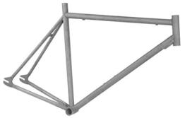 Rahmen + Gabel Singlespeed Raw Phosphatiert roh Stahl 3 Größen, Rahmengrösse:55 cm -