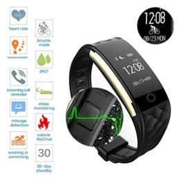 ROGUCI 0.96 Zoll OLED Bluetooth intelligenter Verfolger/Tracker, IP67 Wasserdichtes Tragbares Armband Wristband, Fitness Tätigkeits-intelligente Spurhaltung Armbinde mit Puls-Monitor, mehrfacher Bewegungs-Modus Fahrrad-Reiten , kompatibel mit androiden Smartphones 4.3 IOS iphones 7.0 BT 4.0 -