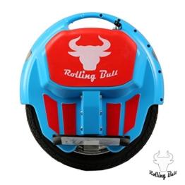 RollingBull Elektro Einrad E-wheel X7BLUE bis 30KM Reichweite LED-Licht -