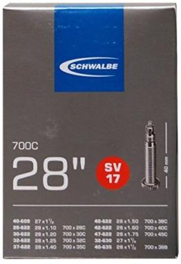 Schwalbe Fahrradschlauch SV17 28/47-622/635 EK 40 mm, 10429343V -