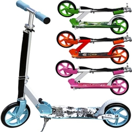 Scooter Girl Power Roller Tretroller Kinderroller Cityroller Kinder 205mm klappbar Umhängegurt -