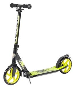 STAR-SCOOTER® Premium Design City Scooter Dein treuester Begleiter auch auf dem Schulweg ★ 205mm Deluxe Cruising Edition ★ Schwarz & Grün -