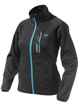 Ultrasport Damen Leichte Softshell Jacke Mia, Schwarz/Türkis, XS, 110131 -