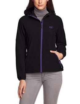 Ultrasport Damen Softshell Jacke mit Kapuze Estelle, schwarz, M, 10002 -