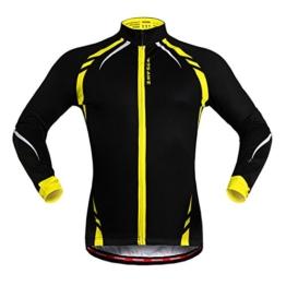 """West Biking Fahrradjacke / Windjacke, Unisex, langärmelig, damen Mädchen Herren Jungen, Schwarz / Gelb, Tag XL(H:5'9""""-5'11"""",W:165-185lbs) -"""