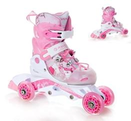 2in1 Kinder Inline Skates Triskates/Rollschuhe Raven Princess Größe: 26-29 (16cm-18cm) -