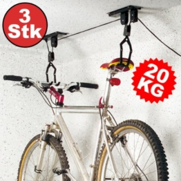 3x Torrex 30170 Bike Lift bis zu 20Kg Tragkraft TÜV/GS geprüft -