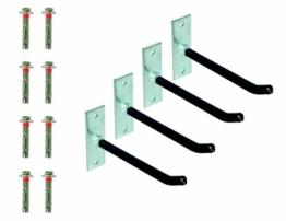 GAH-Alberts 801960 Felgenhalter-Set, galvanisch verzinkt, Überzug mit PVC-Schlauch, Haken: 200 mm, Platte: 120 x 40 x 5 mm -