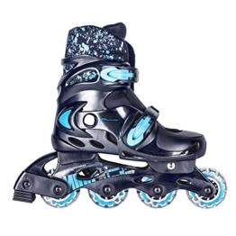 SPOKEY® SPLASH Inline Skates Kinder/Damen | 31-34 // 35-38 | Rollerskates | Inliner | Blades |Größenverstellbar | Softboot, Farben:Schwarz-Blau;Größe/Size:31-34 -