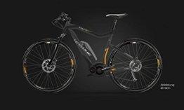 E-Bike Haibike Xduro Cross RX 400Wh/36V 15 HB BPI 27G 28' Herren in grau/schwarz/orange matt, Rahmenhöhe:52 -